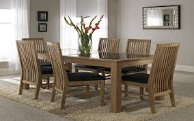 nice wooden dining table with glass top glass wood dining table