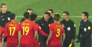 Kết quả hình ảnh cho U23 Trung Quốc đòi xử trọng tài