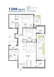 Small 5 Bedroom House Plans Standard Floor Plan 2bhk 1050 Sq Ft Customized Floor Plan 1200