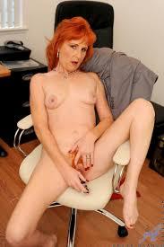 Redhead sasha nude in office