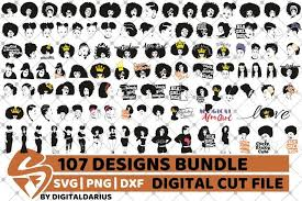 Select any of these african silhouette pictures that best fits. 107x Black Woman Designs Bundle Svg Black Queen Melanin 599919 Cut Files Design Bundles