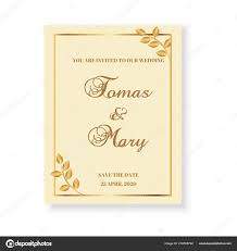 Wedding Invitation Template Cards Gold Pattern Vector Design