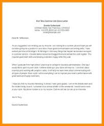 High School Student Summer Jobs Cover Letter For Summer Job Working Student Application Letter Full