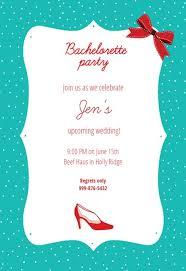 Bachelorette Party Bridal Shower Invitation Template Free