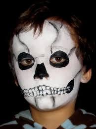 skeleton skull face painting design