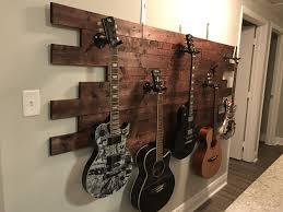 Luisa's Guitar Display - Pinterest idea, wood, wood glue, tons of 3/