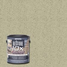 Rustoleum Driftwood Stain Rust Oleum Restore 1 Gal 10x Advanced Driftwood Deck And Concrete