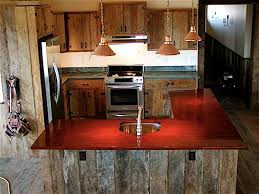 Cabinets: Cool Rustic Reclaimed Brazilian Rosewood Modern Kitchen Cabinet  Design With Sleek Countertop Ideas With Pendant Lights Reclaimed Wood  Flooring And ...