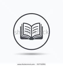 book icon study literature sign education stock vector  study literature sign education textbook symbol circle button flat web