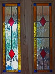 stained glass door panel 23