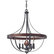 alston large antique forged iron ceiling pendant light