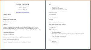 9 College Student Curriculum Vitae Sample Graphic Resume
