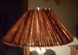 lampshade, accordion, wood, shade