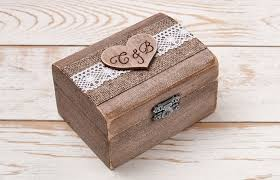 Decorative Ring Boxes Rustic Wedding Ring Box Wedding Ring Holder Ring Pillow Bearer 17