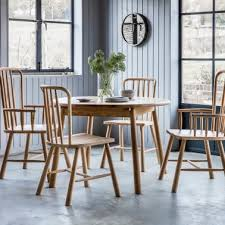 alpine round extendable dining table oak 110cm