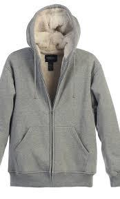 gioberti gioberti mens sherpa lined pull zip fleece hoo jacket com