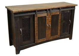 70 eliza black barn door tv stand