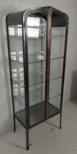 Metal Glass Display Cabinet Vintage Apothecary Metal Cabinet At 1stdibs