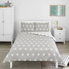grey white double duvet sets