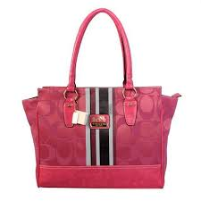 Coach Candace In Signature Medium Pink Satchels BFO