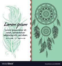 Dream Catcher Card Designs Card Design Dreamcatcher Text Place Boho Style