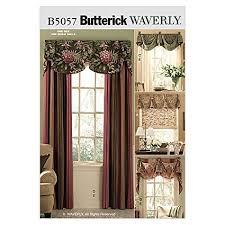 Window Valance Patterns Classy Amazon Butterick Patterns B48 Window Treatments All Sizes