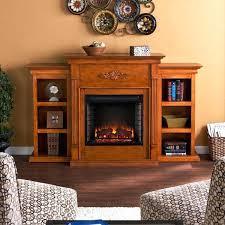 upton home dublin 70 inch ivory electric fireplace blvd glazed pine bookshelves insert linear