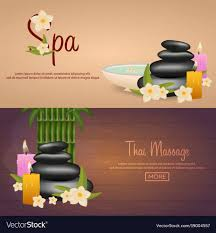Spa Banner Design Spa Salon Banner With Stones And Bamboo Thai