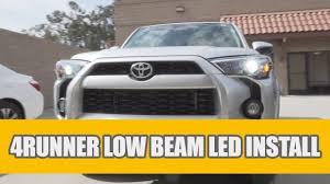 2018 Toyota 4runner Fog Light Bulb Size 2010 2019 Toyota 4runner Headlight Low Beam Led Bulb Upgrade Install