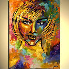 2019 handmade abstract palette knife heavy texture girl oil painting acrylic paintings on canvas art deco paintings bedroom living room from kungfuart