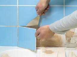 ways to fix loose bathroom tiles how broken wall tile and regrout shower cubicles