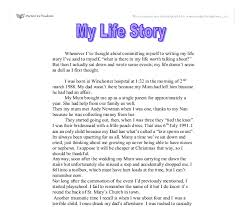 my life story gcse english marked by teachers com document image preview