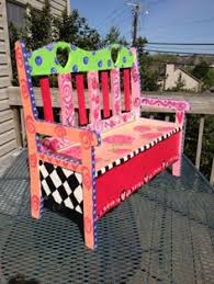 Best 25 Painted Benches Ideas On Pinterest  Entryway Paint Hand Painted Benches