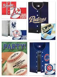 Mlb Team Logo Baseball Party Invitations Thank You Notes