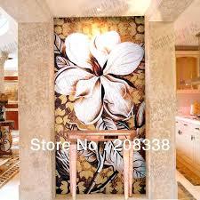 glass mosaic wall art magnificent flowers tile modern sea fresh best m