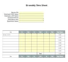 Bi Weekly Timesheet Template Free Printable Timesheets Bi Weekly Download Them Or Print