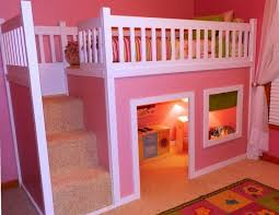 Beautiful Bunk Beds Design With Pink Colours