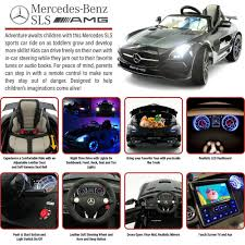 Car Seat With Lights Mercedes Ride On Car Sls Amg 12v Kids Car W Remote Control Built In Lcd Tv Led Lights Leather Seat