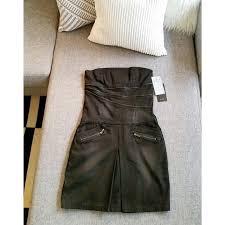 Mango Usa Size Chart Nwt Black Strapless Moto Dress W Zips Mango Nwt