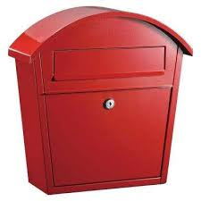 Red Wall Mount Mailboxes Residential Mailboxes The Home Depot