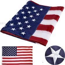 ธงงานปัก ธงชาติ USA ธงเมกา ธงอเมริกา ธงสหรัฐ สหรัฐอเมริกา ธงยูเอส แบบงานปัก