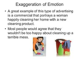 exaggeration in commercials why do advertisers so often use  3 exaggeration