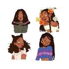 Pin by kathrine smith on polyvore sets | Black girl magic art, Black women  art, Hair art
