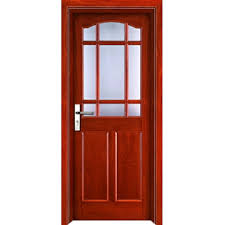 w9407 is panel design with jade glass architrave wood door