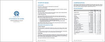 design statement of work managing redirects