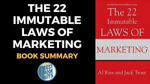 22 Immutable Laws Of Marketing The 22 Immutable Laws Of Marketing Book Summary