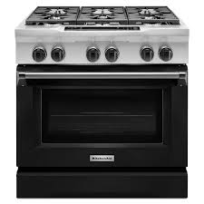 kitchenaid stove white. kitchenaid 36 in. 5.1 cu. ft. dual fuel range with convection oven in kitchenaid stove white 4