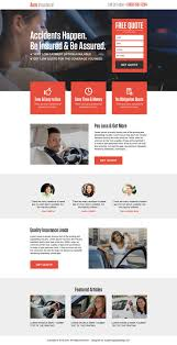 get free quote for auto insurance landing page design template