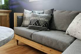 DIY Upholstered couch free building plans and upholstery tutorial