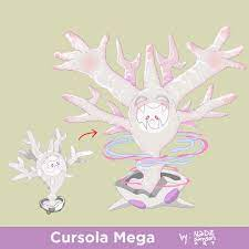 Cursola Mega Eco | Mega evolution pokemon, Pokemon, Ghost type pokemon